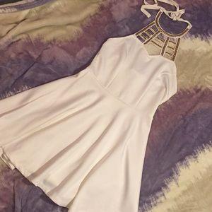 NWT White & Gold Dress